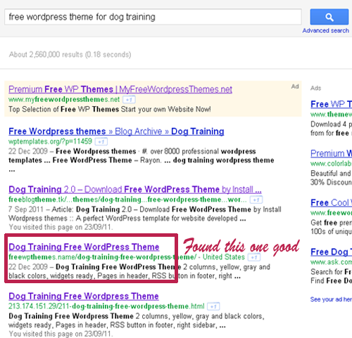 free Wordpress theme for dog training, I can found so many website offering free theme suitable for dog training.