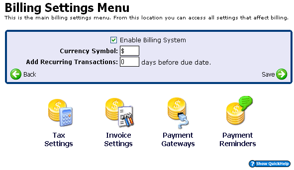Billing Your Customers 13 HELM has an integrated billing system that can bill your customers for you. Using HELM s billing system is optional; it s possible to disable the entire system.