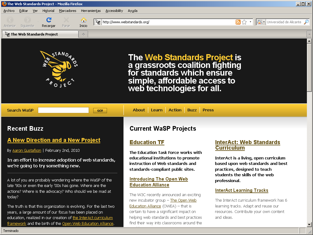 The Web Standards Project WaSP: Fighting for