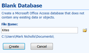 Opening a Database - How to do it: 1. Open Microsoft Access by clicking: Start Button All Programs Microsoft Office Microsoft Access 2.