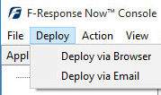 You will find the client URL link by first highlighting your Appliance, then selecting Deploy->Deploy via Browser from the F-Response Now menu.