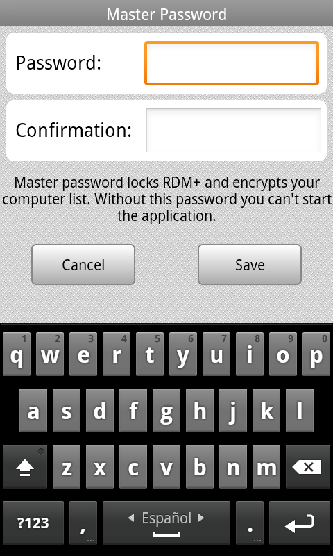 Master Password Master Password locks RDM+ and encrypts your computer list.