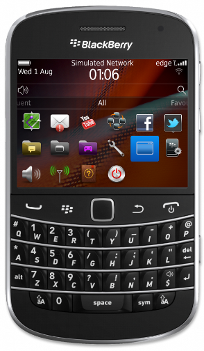 3. Click SUP101 BlackBerry to launch the application.