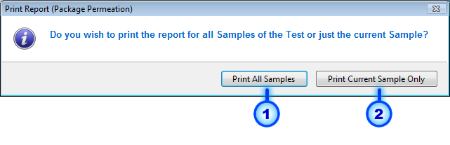 Page: 90 Print Interim Report Cancel Fig.5.33: Package Permeation Print Report Message.