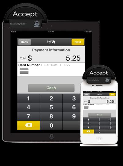 MOBILE APPLICATION: RDC & CREDIT CARD Ability to process payments outside of your traditional POS environment Take images of checks with the camera on