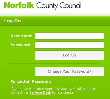 Logging on to the Norfolk SIMS Portal Teachers Guide Login on The SIMS portal is accessed through a secure website.