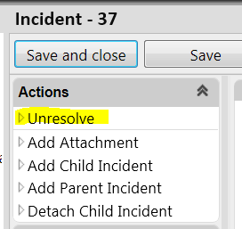 This is the query view in All Requests/All Incidents. Unresolve (Reopen) a Ticket A Resolved ticket stays in the resolved status for 5 business days before actually closing.