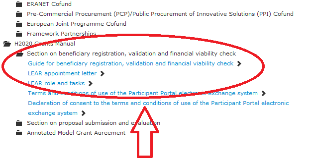 7. Guidance documents The H2020 Grants Manual is published on the Participant Portal http://ec.europa.