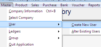 from main screen and open the software again. Find below the sample entries on company information.