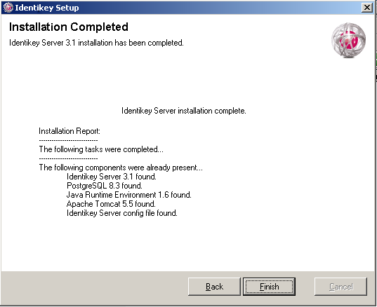 Install IDENTIKEY Server in Advanced mode - ODBC Image 55:Installation