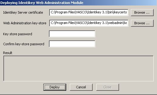 Install IDENTIKEY Server - Active Directory Image 88: IDENTIKEY Server Configuration Wizard Summary Window 41. Check the settings carefully, then click Proceed to continue. 42.