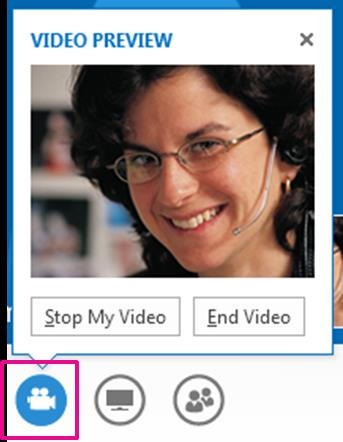 Invite other people to a video call 1. In the conversation window, pause on the people icon, and click Invite More People. 2. Type or select the new invitee(s), and then click OK.