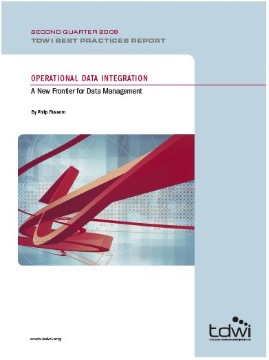 One last recommendation Get a free copy of TDWI Report on Operational Data Integration Download the report in