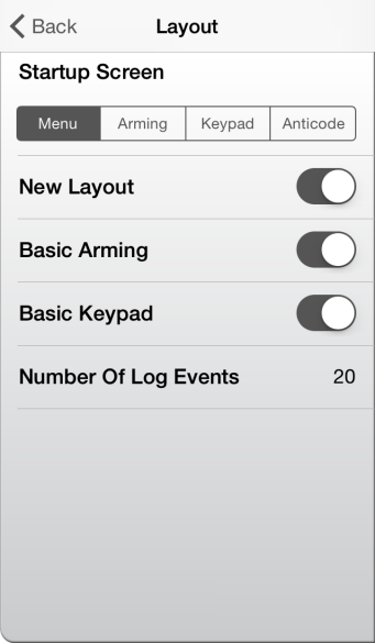Settings The settings menu can be accessed from the Global and not Site specific. Main Home Screen in the top left corner of the screen once you are logged in.