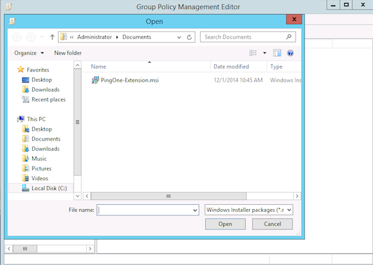 Return to the Group Policy Management window to select the organizational unit (OU) to which the new browser