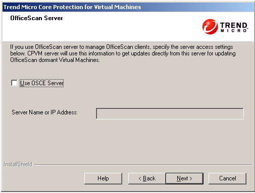 VMware Virtual Center. This account must be specified here so that Core Protection for Virtual Machines can access the VMware Virtual Center.