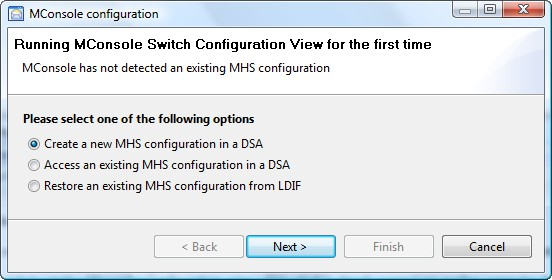 In the 'Set the Messaging Configuration Base DN' screen select the