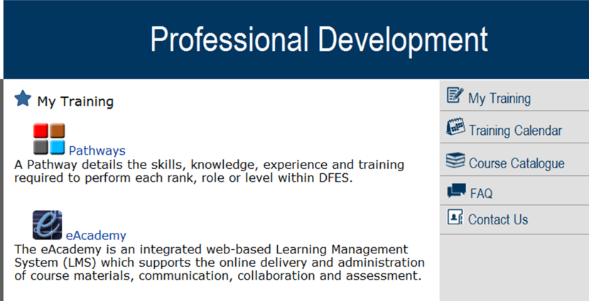 This will take you to the Professional Development Portal 3.