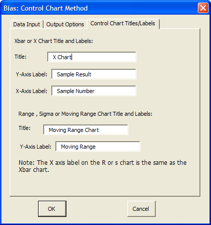 Bias Control Chart Method This method uses the control charts to determine if the measurement system is biased. It can also be used to check the stability of the measurement system.