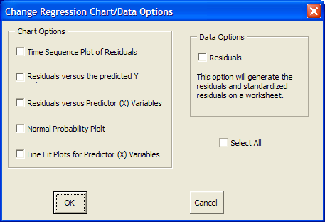 Changing the Variables in the Regression You have the option to change the variables included in the regression after you have run the initial regression.