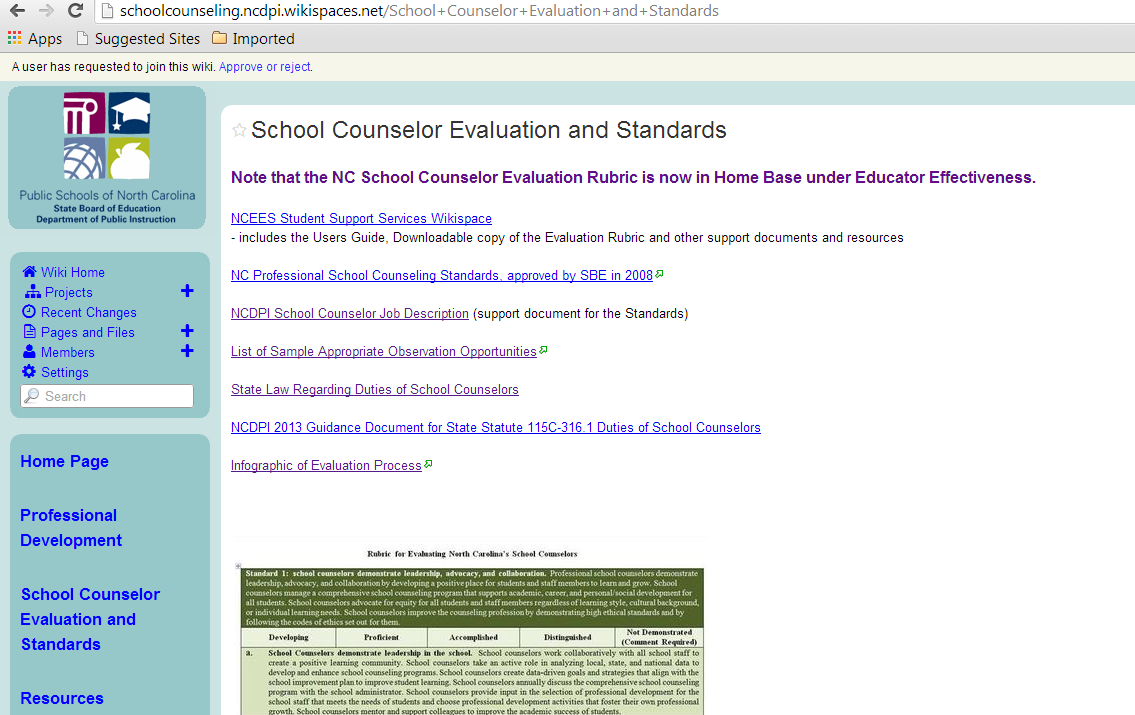 Sample List of Observable Activities Go to the NCEES NCDPI School Counseling Wiki page and click on School
