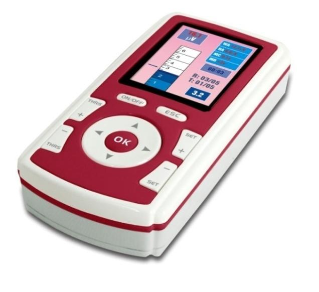 Nu-Tek Maxi Plus 1 Model no: LE1000 Single channel EMG biofeedback device for the measurement of muscle activity and muscle exercise. Highlights 2.