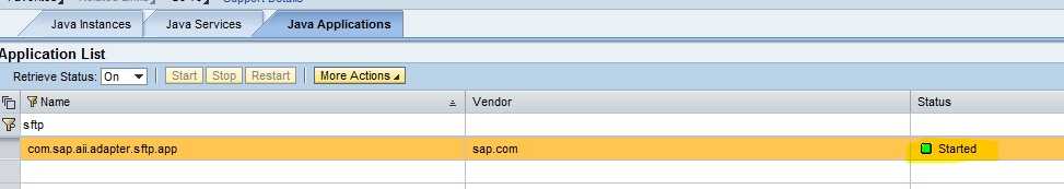 If you are able to find the Component Name PIB2B_SFTP.