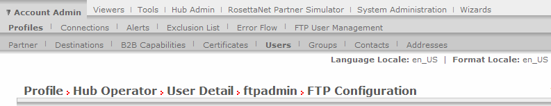 SFTP server user management SFTP user details Creating SFTP server users User name, password Virtual home directory Maximum upload, download rate Permissions to create directory, read-only access