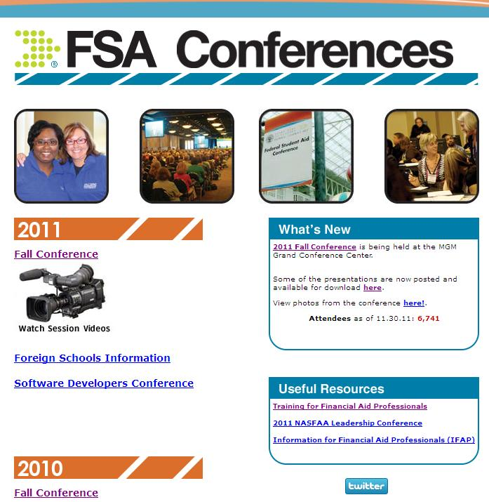 These PPs are the sessions conducted by FSA and the release of the federal updates for the upcoming year. Over 6,000 FAA and others participate at these conferences in December.