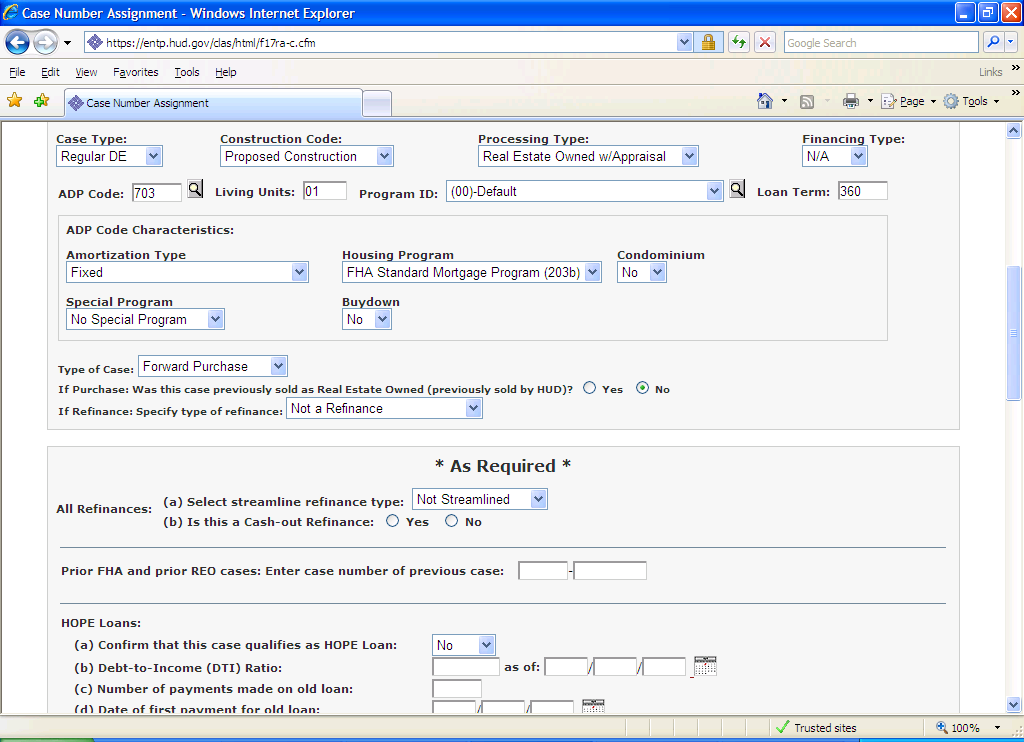 how can i cancel a fha case number assignment