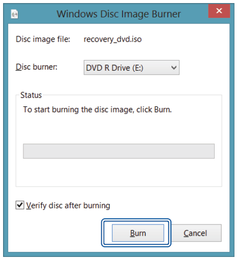 ii. Create and Burn a Recovery Disk 1. To create and burn a Recovery Disk, select [Recovery Disk], and then follow the onscreen instructions to continue. 2.