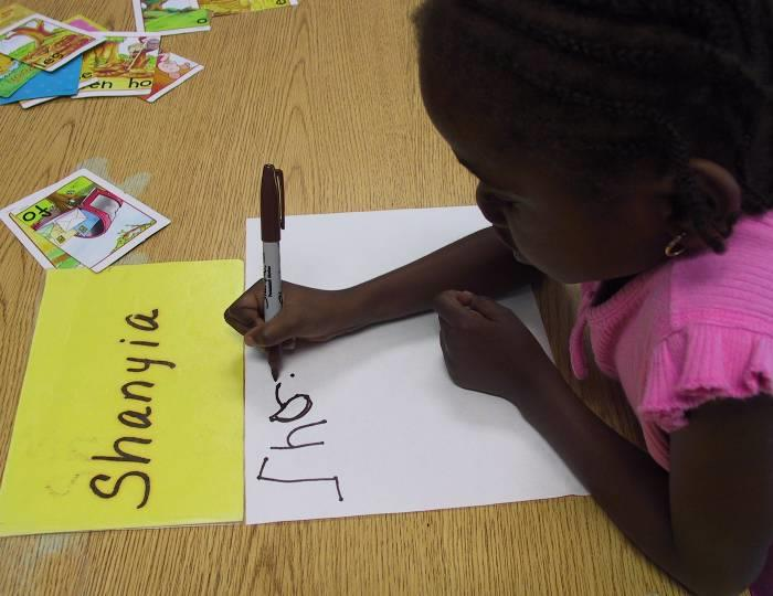 Write children s words and read them back together.