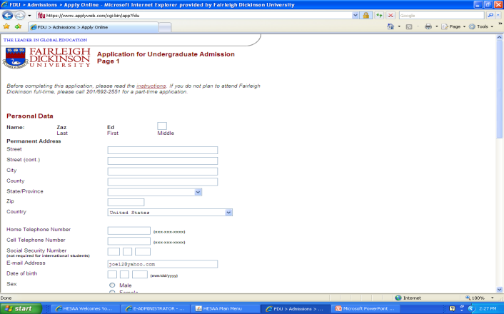 Online or Paper form What is your