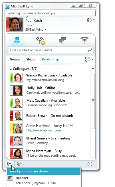 MICROSOFT LYNC CAPABILITIES IM & Presence Rich presence and instant messaging capabilities in Lync Server 2013 helps workers find and communicate with one another efficiently and effectively.