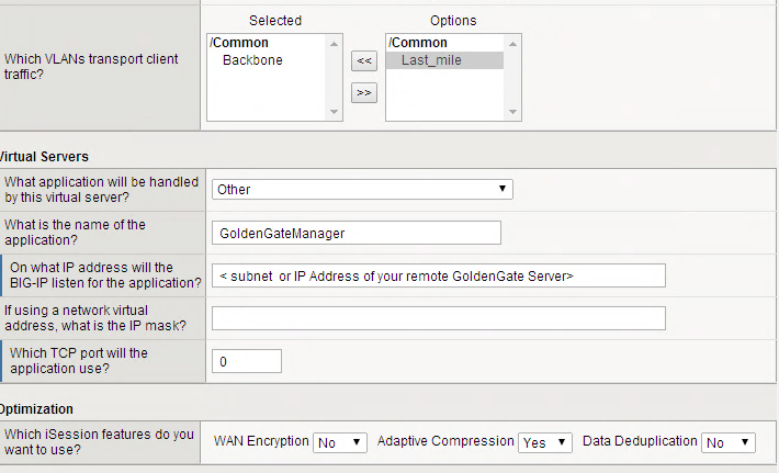 Figure 15: Creating the GoldenGate Data configuration 2.5.2.4 Make Changes to the GoldenGate Configuration All settings for GoldenGate are stored in a parameters file.
