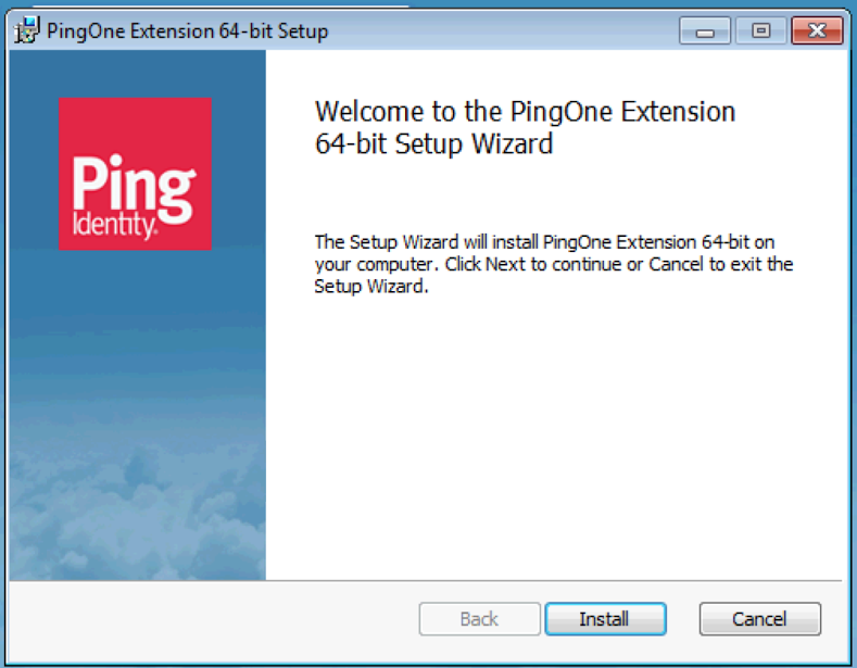When prompted to Run or Save PingOne-Extension-x64.msi or PingOne-Extensionx86.