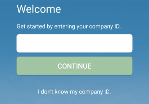 When connecting for the first time, you will be asked for your company ID.