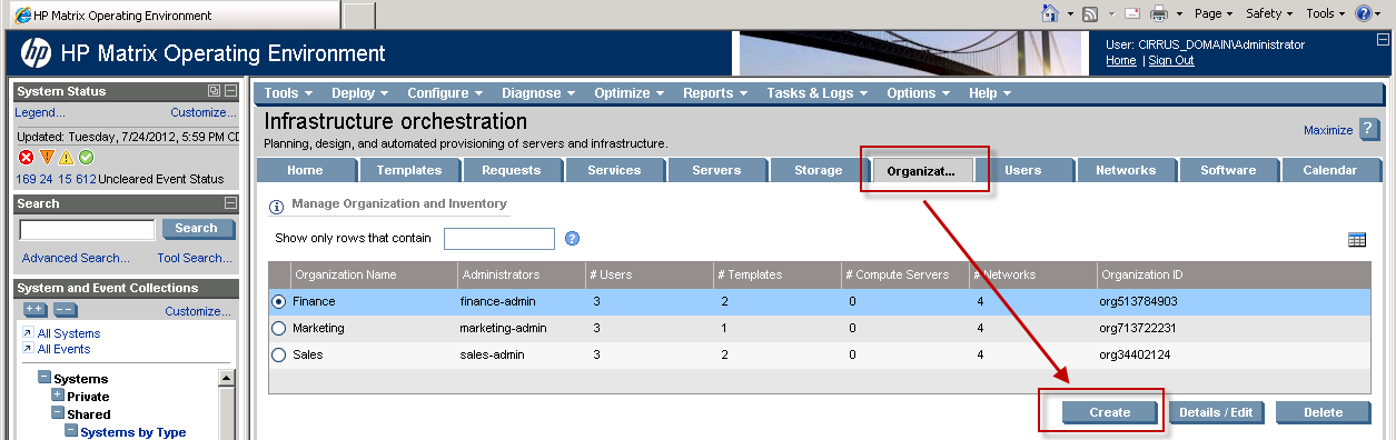 For each group, test administrator and standard users are configured as shown in Table 2.