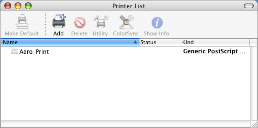 SETTING UP PRINTING ON MAC OS X 11 TO SET UP THE INTEGRATED FIERY COLOR SERVER WITH BONJOUR CONNECTION TYPE IN THE PRINTER