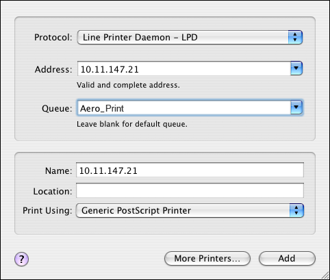 SETTING UP PRINTING ON MAC OS X 13 If the zone is not listed as the Default Zone, or one of the Recent Zones, select AppleTalk Network, select the zone, and then click Choose. Proceed to step 6.