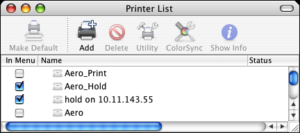 SETTING UP PRINTING ON MAC OS X 15 TO CONFIGURE INSTALLABLE OPTIONS 1 Choose Utilities from the Go menu and start the Printer Setup Utility.