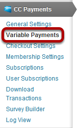 To see the list of the Variable Payment Templates we did, click on