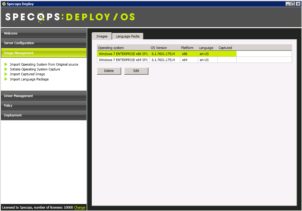 5 How to Manage Operating System Images using Specops Deploy / OS 1. From the start menu navigate to All Programs>Specops Software> Specops Deploy>Specops Deploy OS Admin. 2.