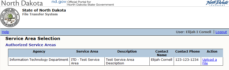 The access request to the agency service area shows up in the Security for Public Users section. You may choose to either Approve or Deny the request in the Action column.