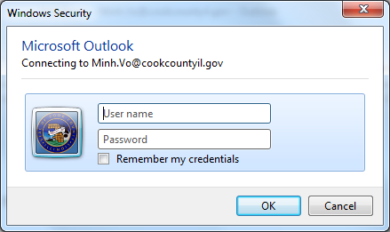 02. OUTLOOK CLIENT - USER INITIAL SETUP 02.01. SETTING UP THE FULL OUTLOOK CLIENT FOR THE FIRST TIME Many Cook County users have the full Outlook client installed on their PCs.