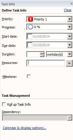 5. The Task Tab The Task tab is new to Mindmanager 14, and introduces new ways to collaborate online. Most functionality is restricted to those with paid mindmanager online account.