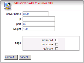 Equalizer OWA Server Farm Configuration Create the Cluster Servers (Version 7) 1. In the left frame, click on the name of the cluster you just created.