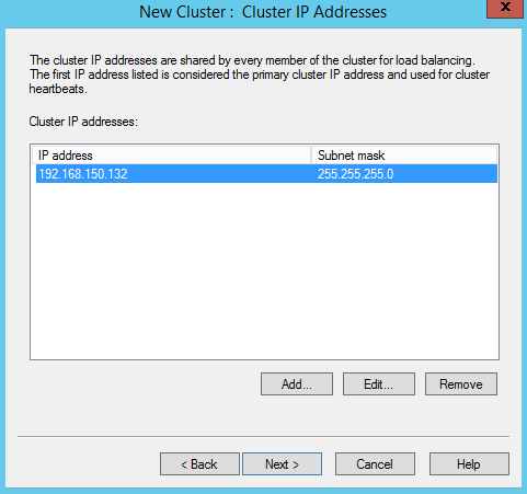Next Step is to define the Cluster IP.