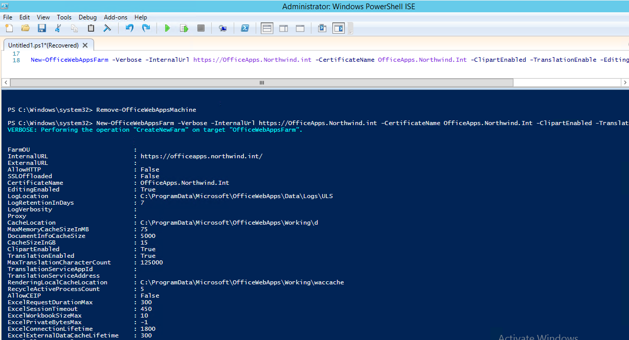 Now the Most Important Steps. Configuring the OWA farm is done through PowerShell. Best Tool for this is PowerShell ISE.