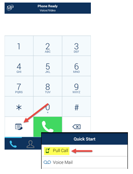 Call Handover You can pull a call from your MegaPath UC desktop client to your Android phone UC client. To enable the handover while on an active call on your desktop UC client: 1. Tap the icon 2.